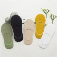 5双装夏季船袜女竹纤维浅口女袜硅胶棉隐形袜短袜豆豆袜子 均码