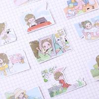 手帐贴纸 手账可爱卡通装饰素材 diy相册手机工具 简单生活.女孩