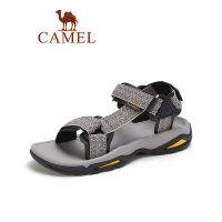 camel骆驼2019夏季新品户外情侣时尚潮流织带凉鞋沙滩男女轻盈防滑鞋子