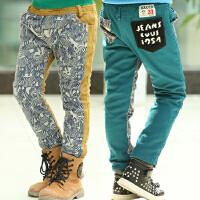 *儿童装男童加绒加厚长裤子2018春冬装新款韩版休闲裤