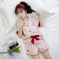 女童夏装睡衣套装2019新款韩版儿童小女孩洋气居家服夏季两件套潮蛋糕和爱心睡衣