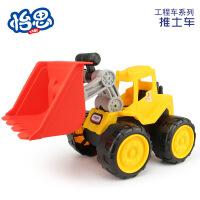 环保沙滩大号工程车挖沙挖掘机铲车儿童玩具车模型
