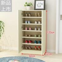 阳台鞋柜现代简约大容量木质鞋柜鞋橱收纳柜多层大鞋柜门厅柜鞋架定制 组装