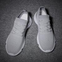 夏季休闲男士运动鞋2018新款韩版袜子鞋一脚蹬透气潮流百搭帆布鞋