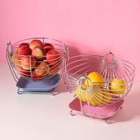 创意果蓝水果篮收纳客厅家用厨房不锈钢洗水果沥水篮盘子套装