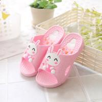 中大童浴室防滑塑料小孩拖鞋女宝宝可爱卡通家居软底儿童拖鞋