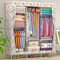 索尔诺简易衣柜 大号布衣柜钢管加粗加固钢架衣橱布艺折叠收纳柜1382