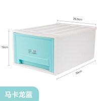 夹缝抽屉式收纳柜收纳箱塑料大号家用床头三层零食柜子整理柜 3个