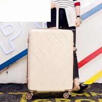 行李箱女韩版24寸小清新男20寸密码箱子28寸旅行箱包万向轮拉杆箱 奶白色 20寸