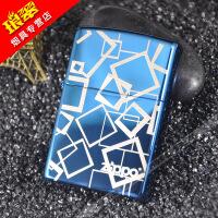 原装正版zippo煤油打火机蓝冰抽象空间zoop男士礼品套装超薄刻字