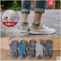 男士民族粗线毛圈加绒短袜复古毛线纯棉加厚毛巾袜秋冬天保暖袜子