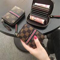 2018新款欧美大牌女式拉链卡包*套小巧小零钱包风琴卡片包潮