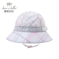davebella戴维贝拉 女童夏季出游帽子 遮阳帽 渔夫帽34017-H