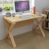 实木简易台式电脑桌笔记本桌子简约书桌家用写字台学习桌 无漆小号长100宽60高75
