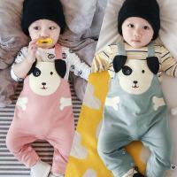 婴儿背带裤春秋6-12个月女婴幼儿韩版休闲裤小狗01岁男宝宝裤子潮