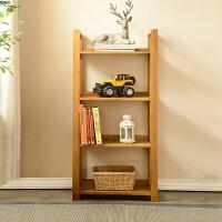 实木客厅置物架创意转角储物架简易白橡木多层置物书架具 仿古色【600mm*280mm*1200mm】