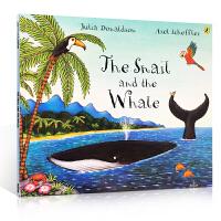 顺丰包邮 聪明豆绘本系列The Snail and the Whale小海螺和大鲸鱼 英国儿童文学作家、剧作家 英国儿