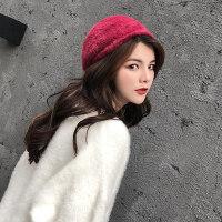 帽子女贝雷小礼帽韩版百搭甜美可爱南瓜帽日系时尚潮八角帽