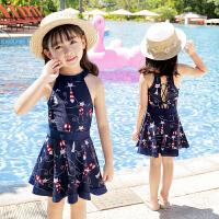 儿童泳衣女孩公主泳装中小童连体裙式游泳衣