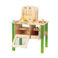 Hape我的大厨房套装三岁以上儿童益智过家家玩具E8010