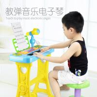 儿童多功能电子琴 带凳子迷你手拍鼓仿真乐器小钢琴 早教玩具