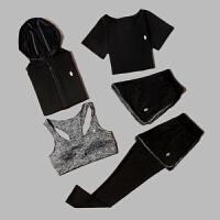秋冬季韩版健身运动服套装女装休闲长袖显瘦速干跑步瑜伽服五件套