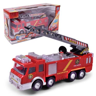 力辉电动玩具 儿童汽车电动车玩具喷水音乐消防车仿真玩具车价格 品牌 图片