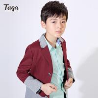 TAGA 春秋款童装男童风衣外套儿童中大童外衣男孩休闲