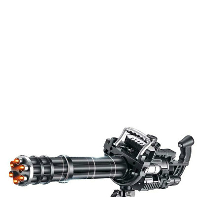 黄金加特林电动连发水晶珠弹枪土豪金火神炮儿童男孩玩具枪发射
