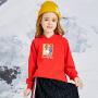 小猪班纳童装女童连帽卫衣2020春秋新款中大童卡通套头上衣圆领衫