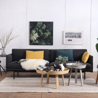 北欧家具沙发小户型客厅布艺沙发咖啡休闲真皮办公三人位创意沙发