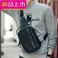 防水男士胸包腰包休闲运动包皮质潮流男手提单肩斜挎包韩版小背包