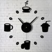 创意DIY挂钟客厅简约数字时钟个性挂钟钟表大数字 黑色 可挑选其他颜色 下单咨询客服
