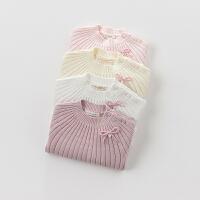 davebella戴维贝拉 女童秋冬季新款针织毛衣 女宝宝针织衫
