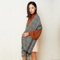 女羊毛围巾女冬季披肩围巾加厚两用礼盒装围巾
