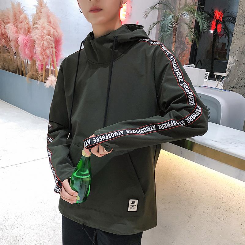 春季新款韩版男士套头连帽卫衣男学生修身秋情侣潮牌外套休闲衣服 发货周期:一般在付款后2-90天左右发货,具体发货时间请以与客服协商的时间为准