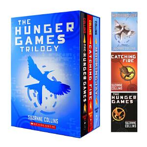 饥饿游戏三部曲英文原版小说  The Hunger Games Trilogy 嘲笑鸟 燃烧的女孩 苏珊・柯林斯Suzanne Collins