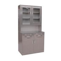 简易不锈钢矮柜医院用床头柜家用带锁收纳柜一斗一门桌下活动柜文件柜免安装SN9001