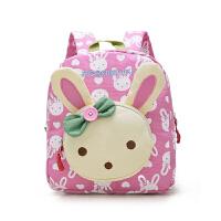 韩版小孩1-3岁宝宝书包女孩可爱儿童背包幼儿园双肩包男女宝宝包 粉色(帆布)