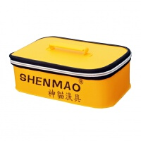 EVA钓鱼收纳盒渔具配件包饵料药瓶箱加厚防水带盖不折叠鱼桶
