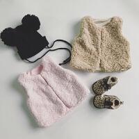 定制 韩国女童羊羔绒皮草背心外套 宝宝冬季毛毛背心