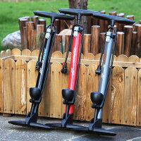 家用便携汽车充气泵准表 户外急用自行车打气筒 电动电瓶车摩托车高压打气筒