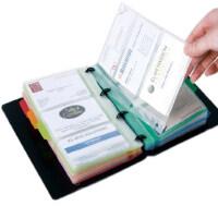 得力大容量名片册 活页名片夹 商务名片夹本册 180张带索引标签