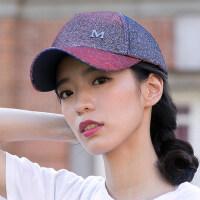 韩版潮时尚百搭休闲鸭舌帽防晒遮阳帽帽子女个性嘻哈亮片棒球帽男