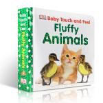 顺丰发货 英文原版DK儿童触摸书 DK Baby Touch and Feel Fluffy Animals 早教触摸