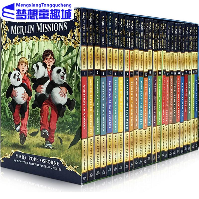 英文原版神奇树屋 Magic Tree House Merlin Missions 1-25套装 梅林的任务 原29-53册 儿童桥梁章节书