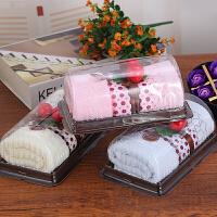 毛巾礼盒 创意生日礼物结婚庆回礼毛巾蛋糕公司广告送爸妈闺蜜礼品33*74cm