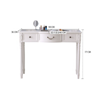 美式电脑桌台式家用田园书桌学习桌现代简约写字台实木办公桌白色 否