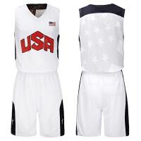 梦十篮球服美国队球衣USA篮球队服定做美国队威少球衣詹姆斯球衣
