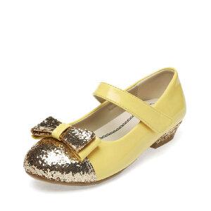 SHOEBOX/鞋柜 新款女童鞋柜公主鞋 亮片蝴蝶结中大童女童单鞋